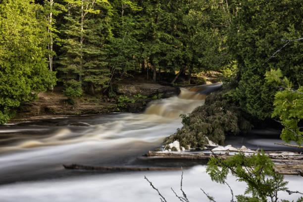 Silky Summer Waterfall stock photo