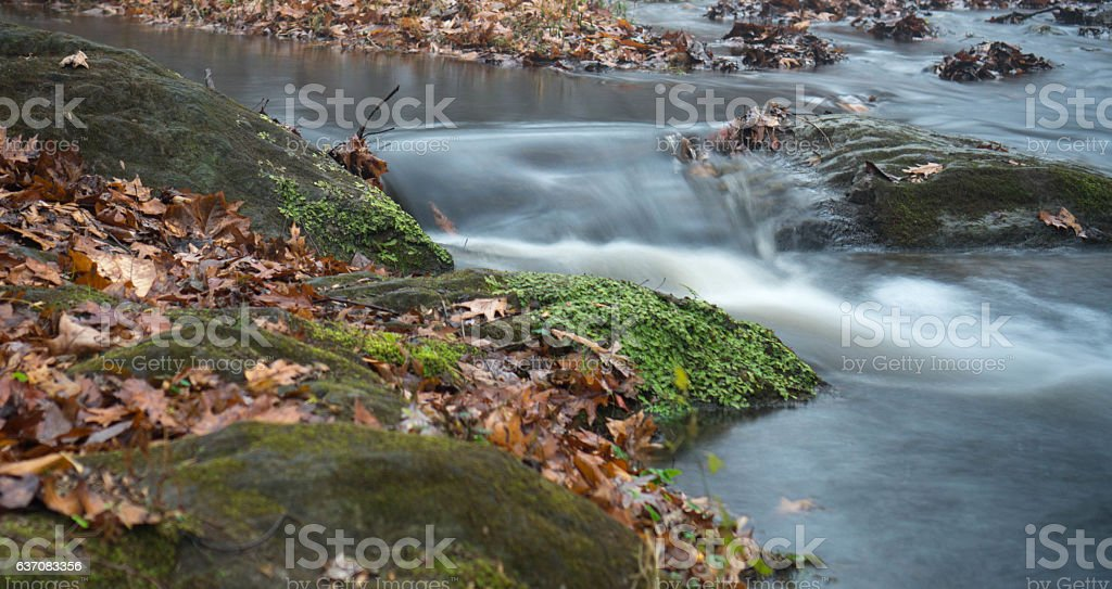 Silky waterfall stock photo