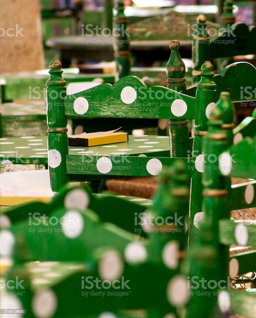 Sillas de feria andalucía stock photo
