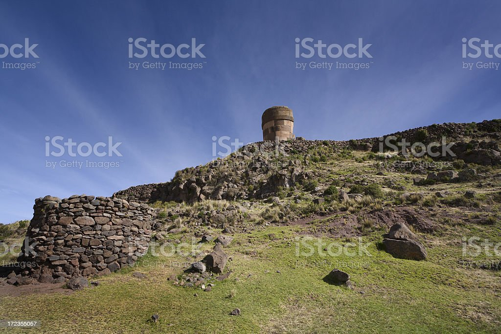 Sillustani Inca Burial Tomb royalty-free stock photo