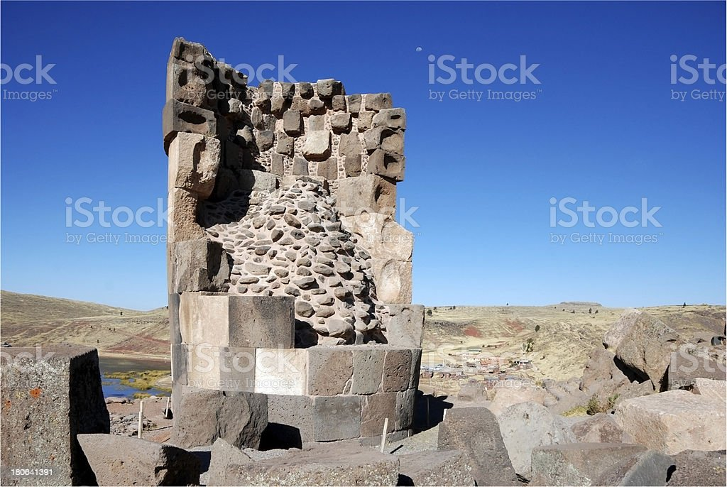 sillustani tomb royalty-free stock photo