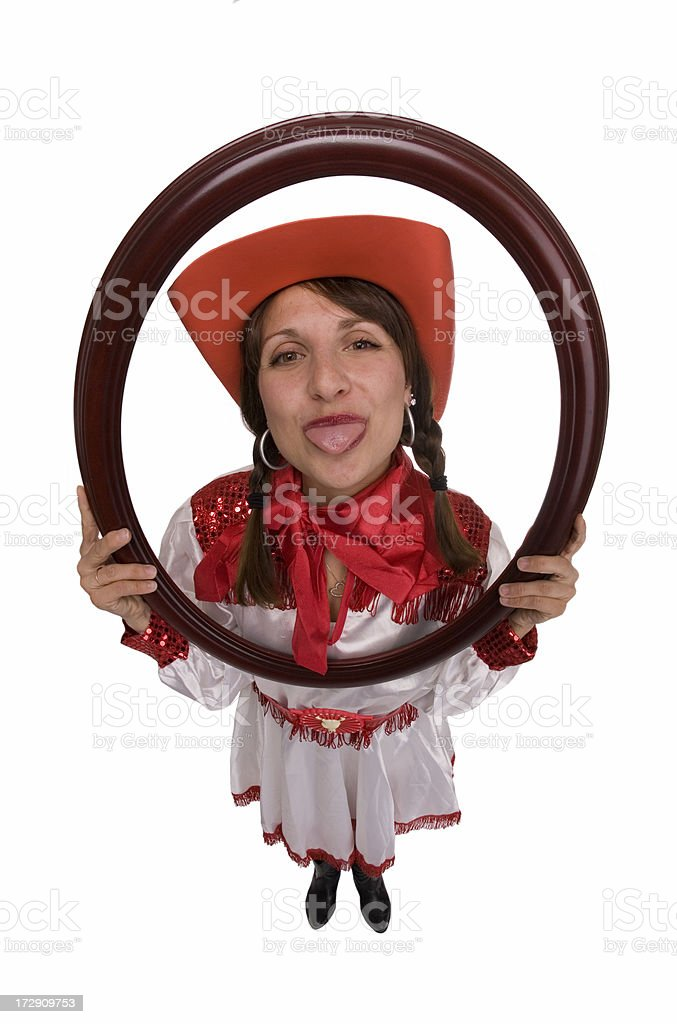 Silly Cowgirl royalty-free stock photo