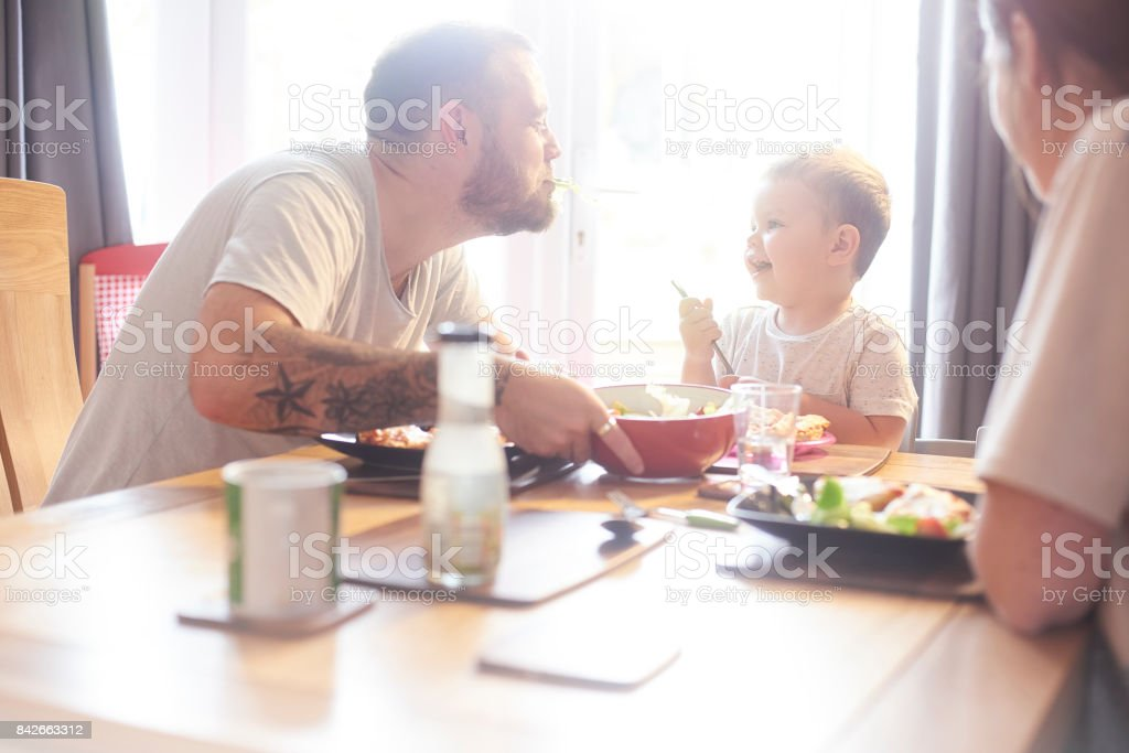 Silly daddy stock photo