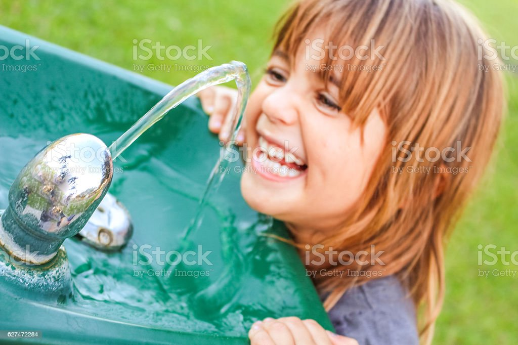 Silly Drinker stock photo