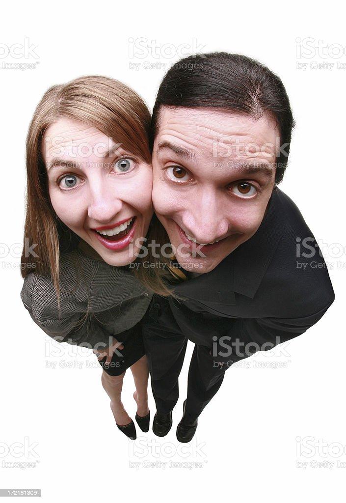 Silly Fisheye Couple royalty-free stock photo