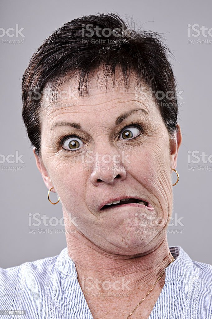Silly funny face royalty-free stock photo