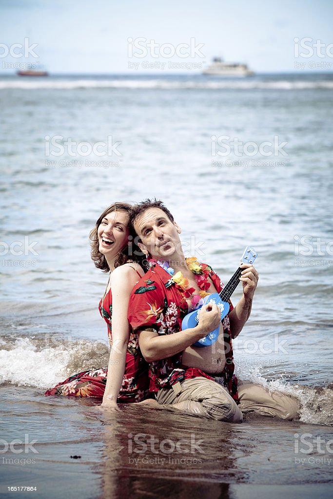Silly Holiday Couple royalty-free stock photo
