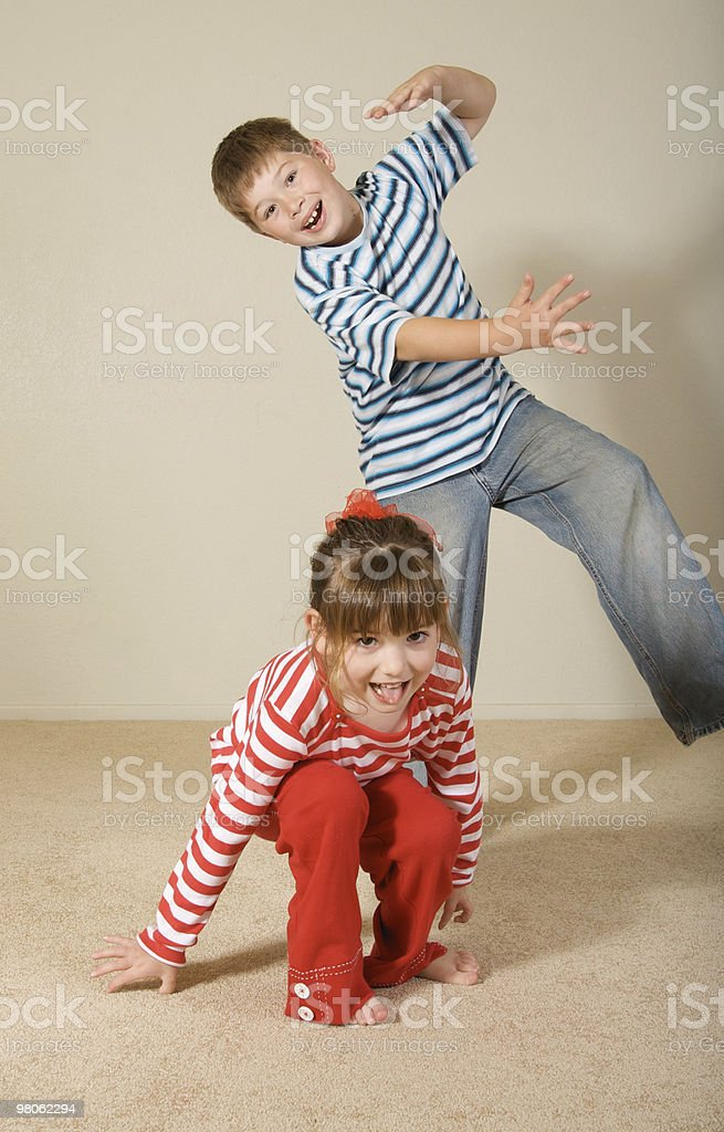 Silly Kids royalty-free stock photo