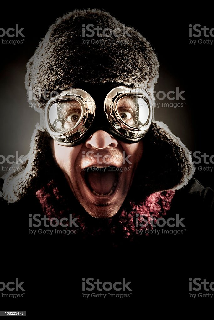 Silly Pilot royalty-free stock photo