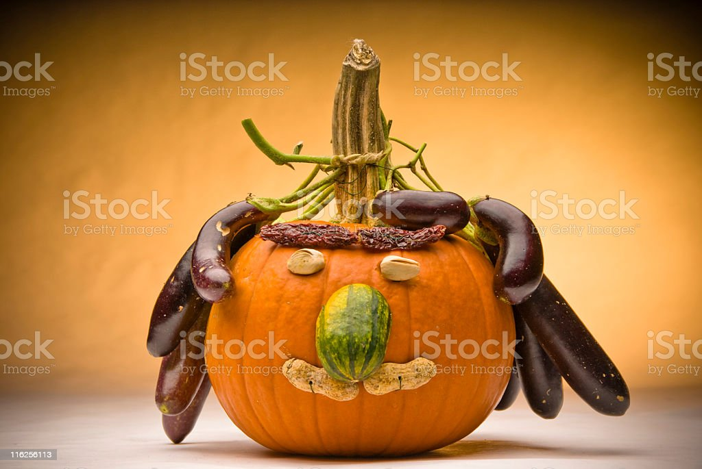 Silly Pumpkin royalty-free stock photo