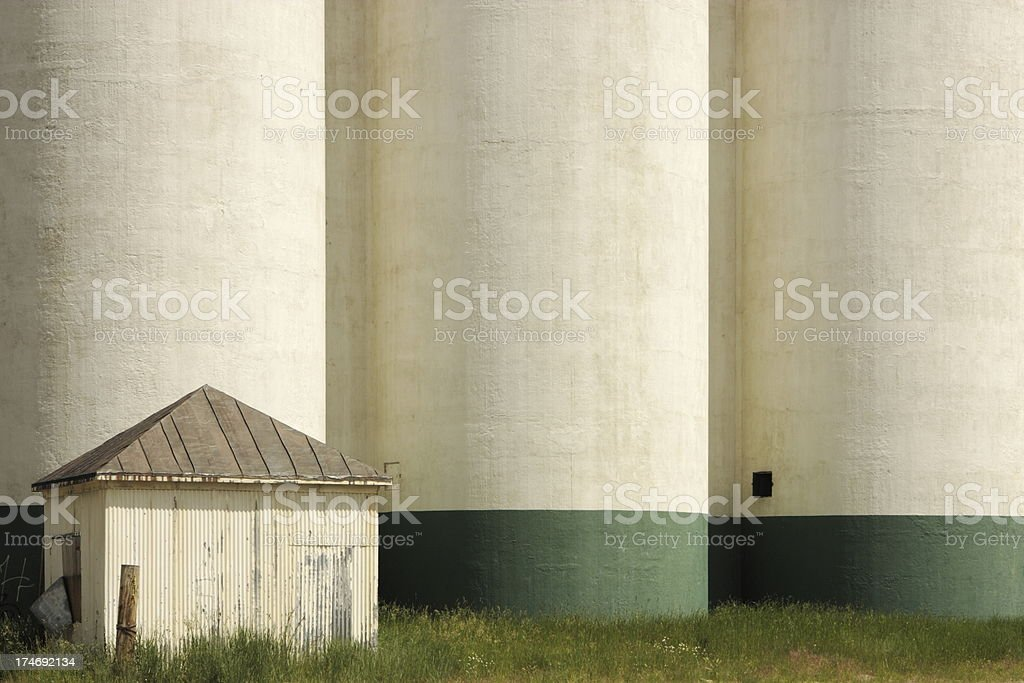 Silo Granary Shed Agriculture Building stock photo