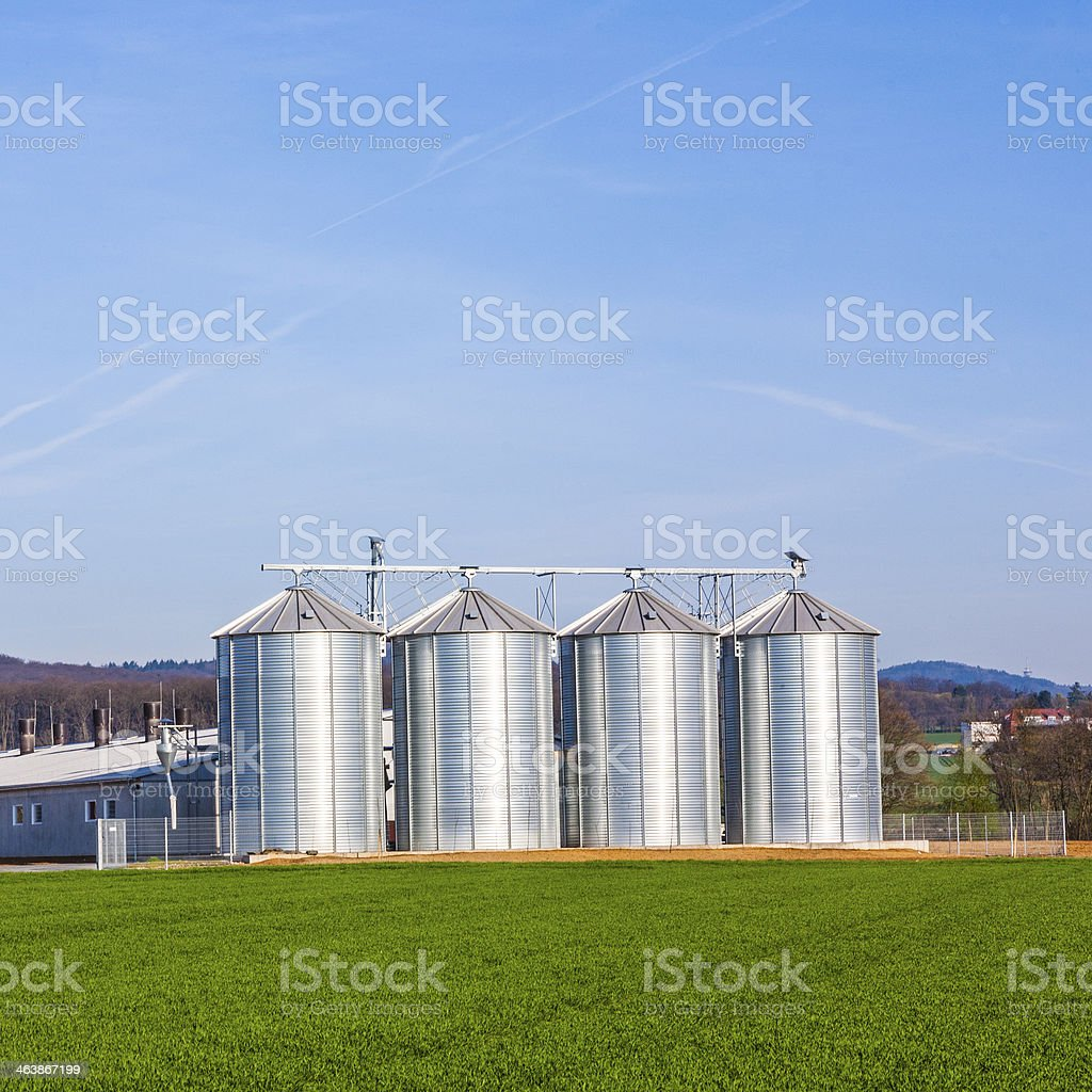 silo in beautiful landscape royalty-free stock photo