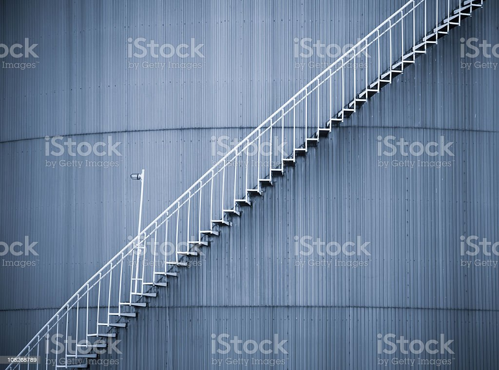 Silo Staircase royalty-free stock photo