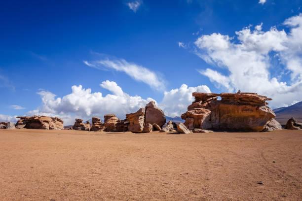 Desierto de Siloli en reserva de sud Lípez, Bolivia - foto de stock