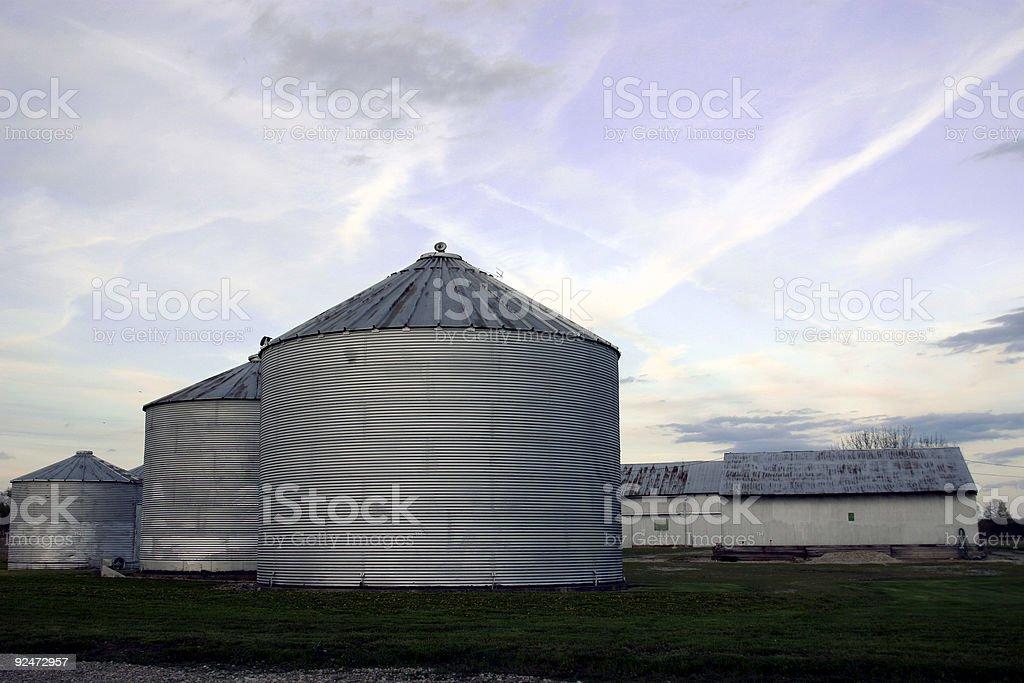 Silos on a farm royalty-free stock photo