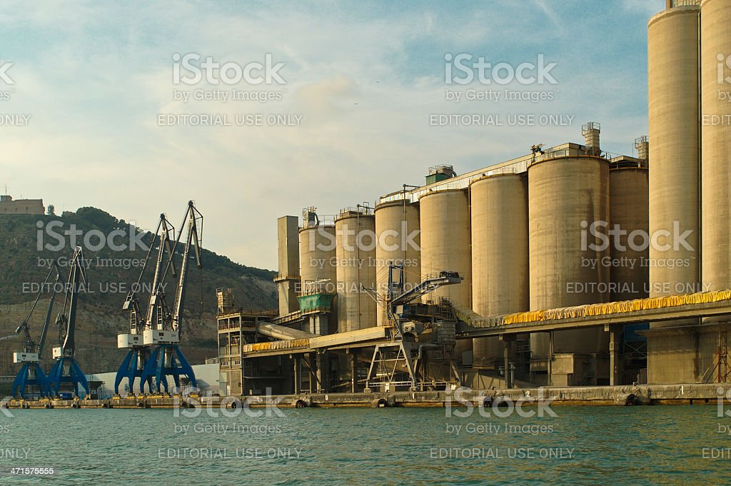 Silos royalty-free stock photo