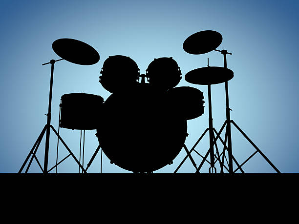 Silouette drum set