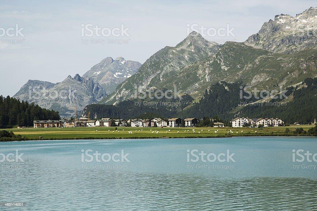 Sils Maria-Engadine-Switzerland royalty-free stock photo
