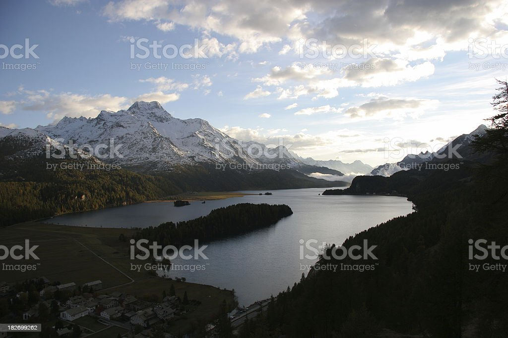 Silser See stock photo