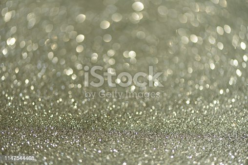 881350776 istock photo Silver abstract bokeh lights. Defocused background with copy space. New year and Christmas concept. Greeting card 1147544468