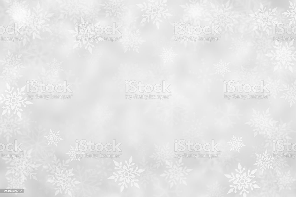 silver abstract snowflake Christmas background royalty-free stock photo