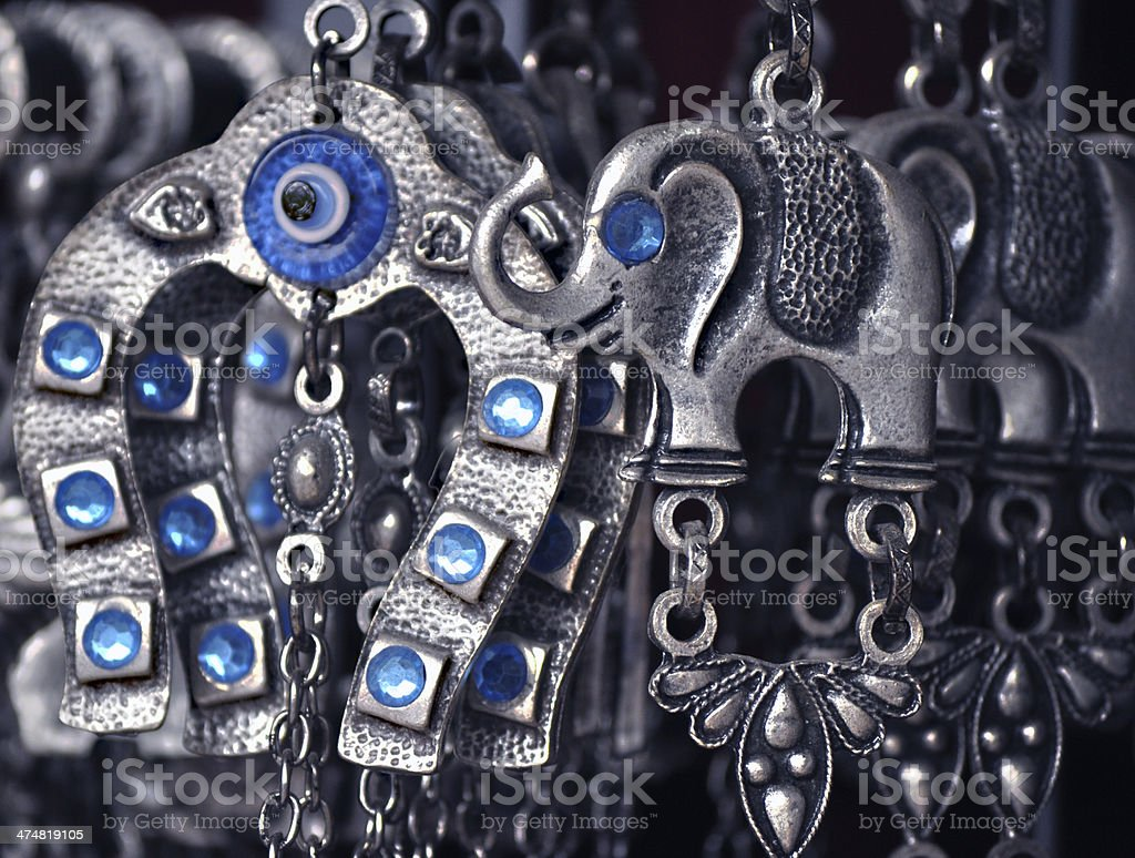 Silver Accessories for Good Luck royalty-free stock photo