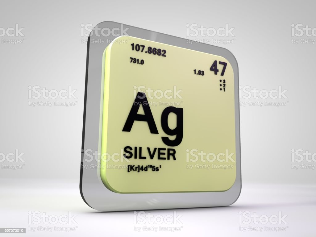 Silver ag chemical element periodic table 3d render stock vector art silver ag chemical element periodic table 3d render royalty free silver ag chemical urtaz Gallery