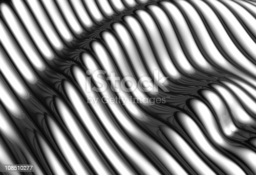 istock Silver aluminium wave shape stripe background 108510277