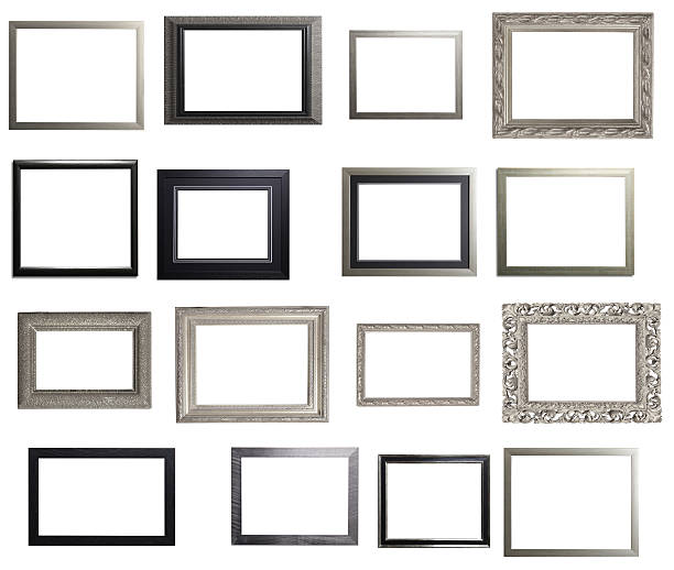Silver and Black Landscape Frame Multiple Selection stock photo