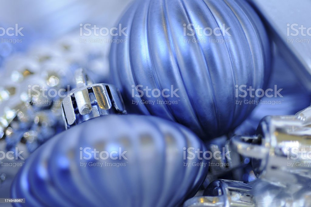 Silver and Blue stock photo