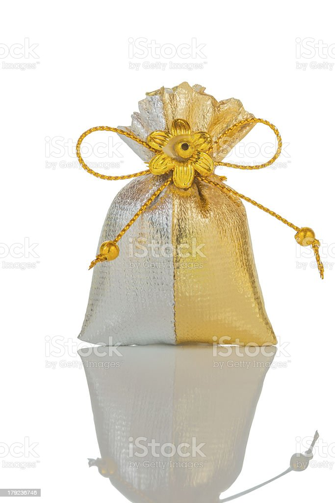 silver and gold bag royalty-free stock photo