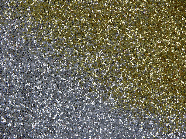 Silver and gold glitter stock photo