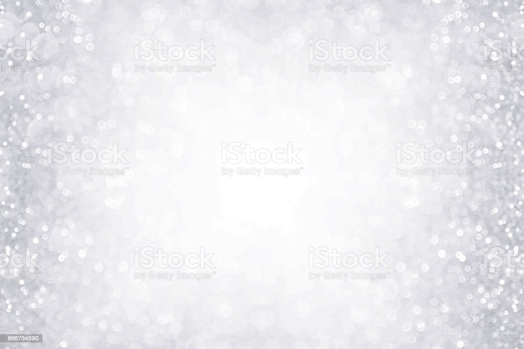 Silver and White Border Background for Anniversary, Birthday or Christmas - foto stock