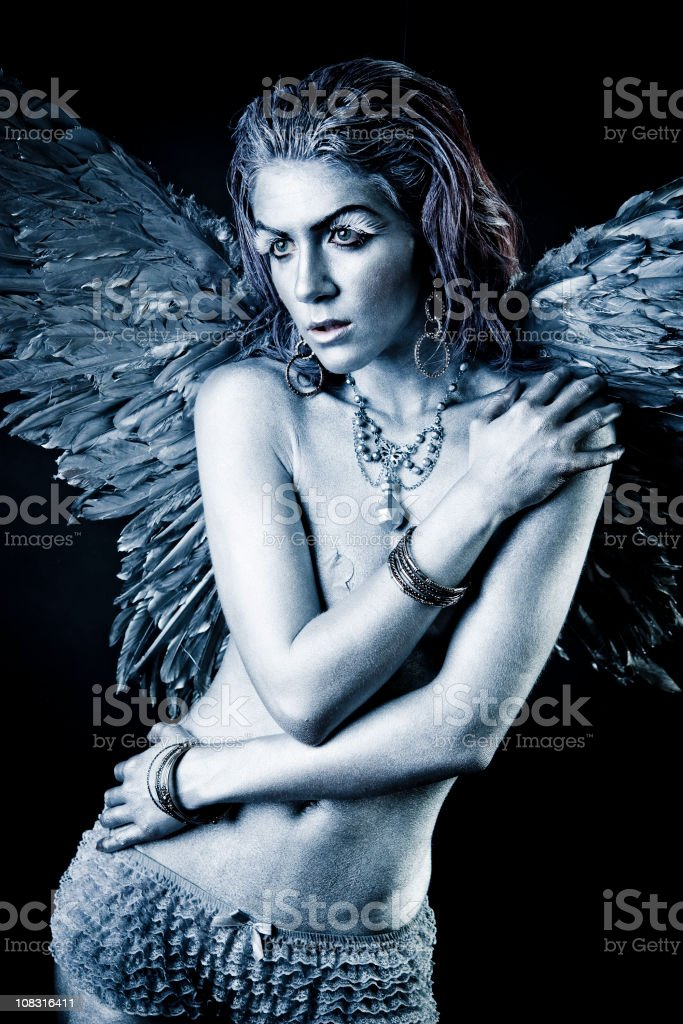 Silver Angel royalty-free stock photo