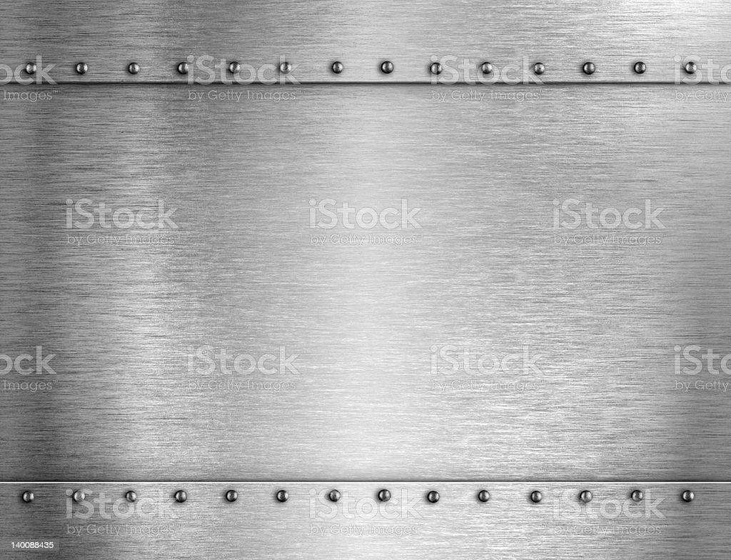 Armure fond métal argenté - Photo