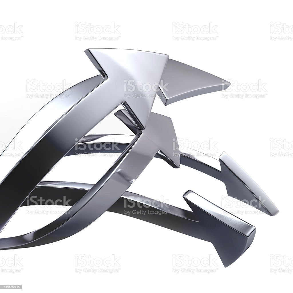 Silver arrows royalty-free stock photo