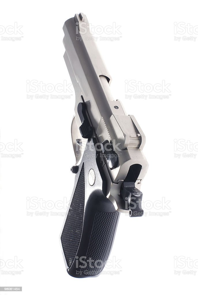 silver automatic handgun royalty-free stock photo