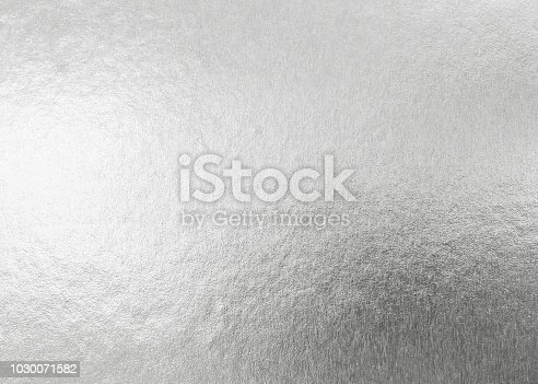 Silver background metallic texture wrapping foil paper shiny white grey metal backdrop for wall paper decoration element