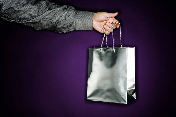 Silver Bag stock photo