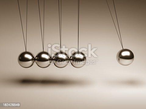 The balancing balls Newton's cradle
