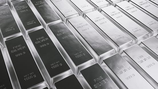 Silver - Metal, Ingot, Stock Market and Exchange, Moving Down, Moving Up