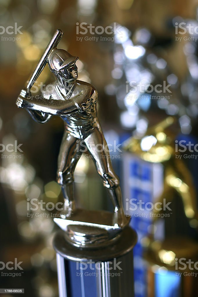 Silver Baseball Trophy royalty-free stock photo