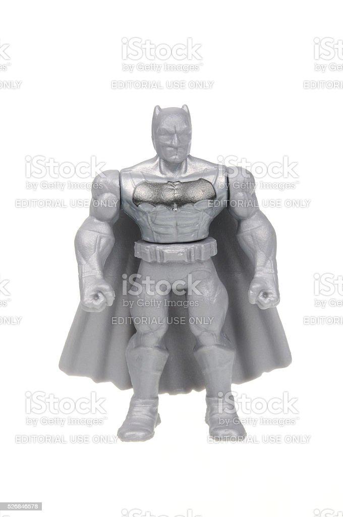 Silver Batman Action Figure stock photo