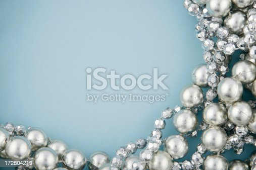 istock Silver Beads on Blue 172804219