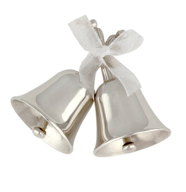 silver bells - bell stock pictures, royalty-free photos & images