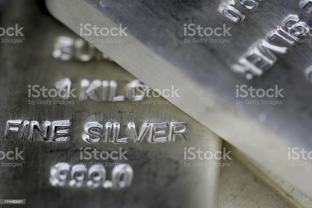Silver Billon stock photo