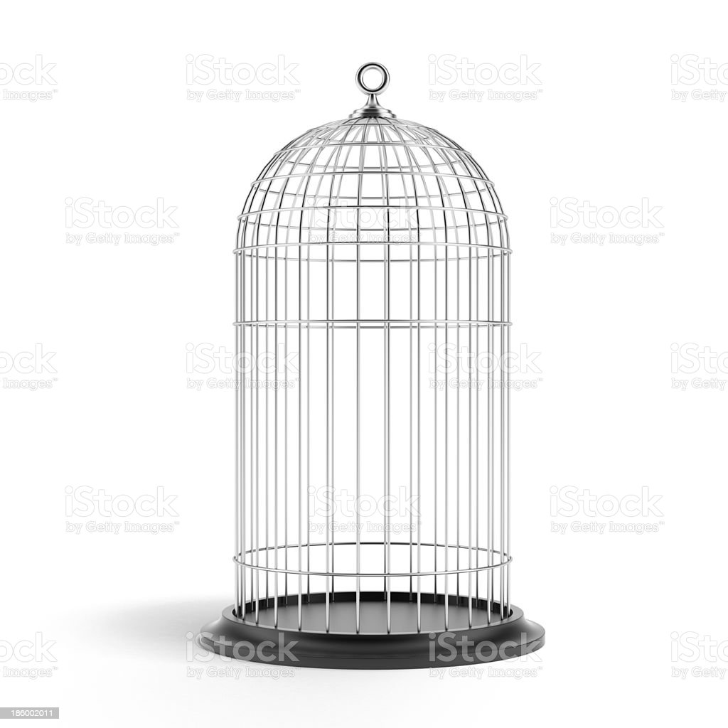 Silver Bird Cage stock photo