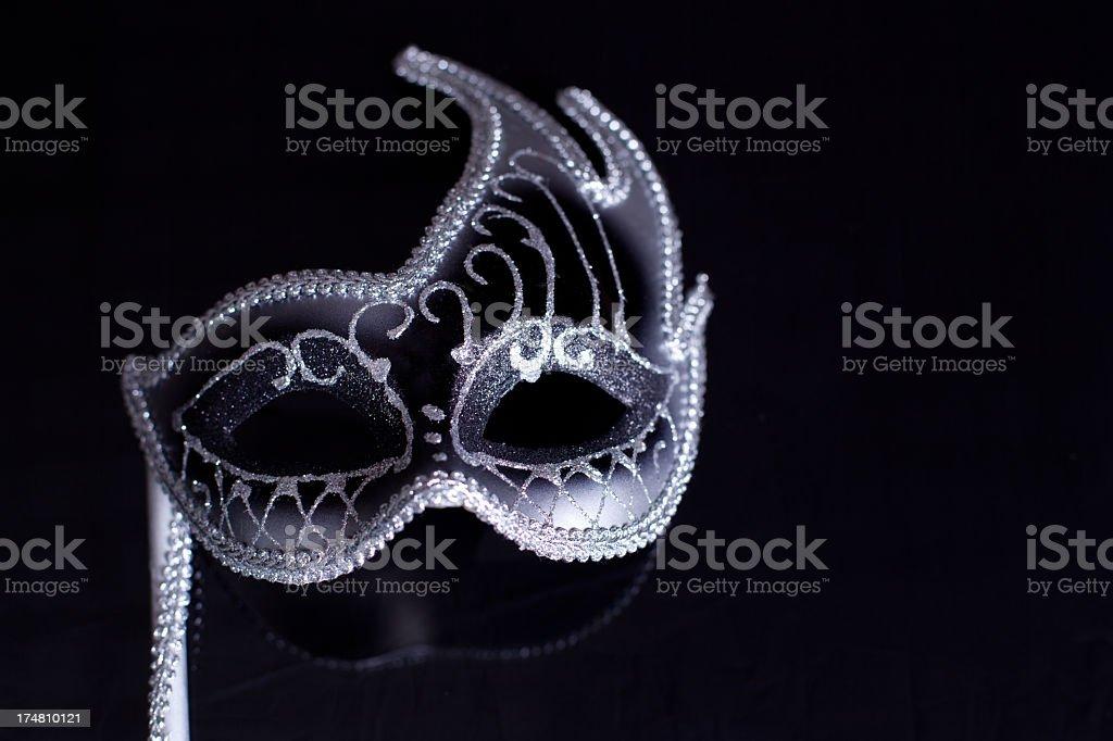 Silver Black Mask stock photo
