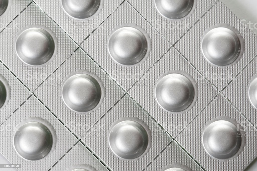 Plata paquetes de blíster de pastillas - foto de stock