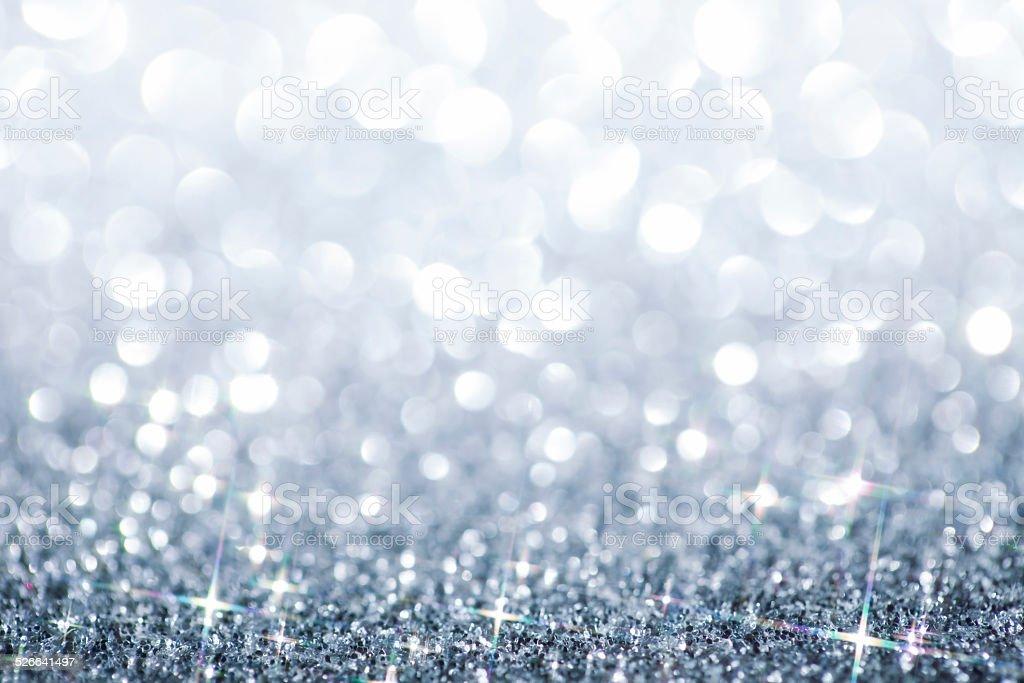 silver blue defocused glitter background christmas bokeh